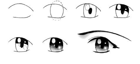 debajo de las cejas se dibujan las sombras que se producen por los orificios del crneo en los que se encuentran los ojos rbitas oculares y listo